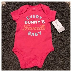 🐰 NWT Carter's Every Bunny 3 Month Girl Onesie 🐰